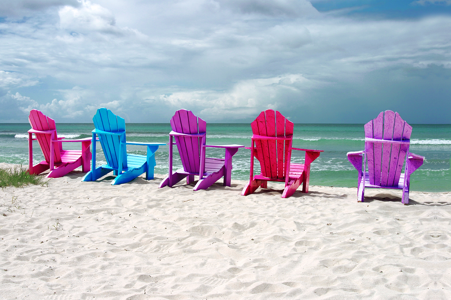 Beach chairs on Aruba
