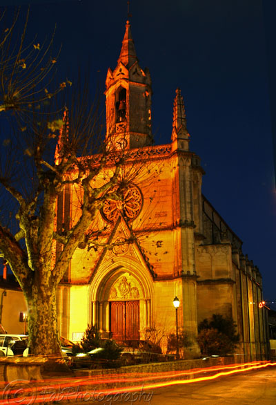 French Church at Night