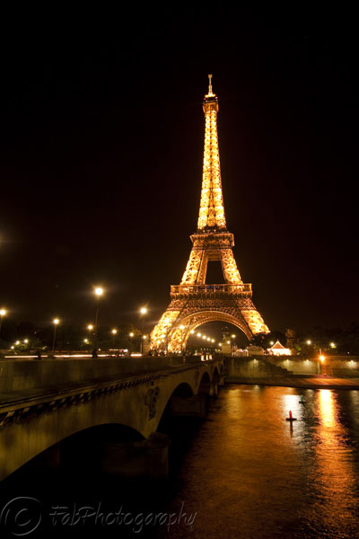 Eiffel Tower on River