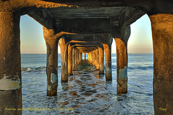sunrise under mb pier